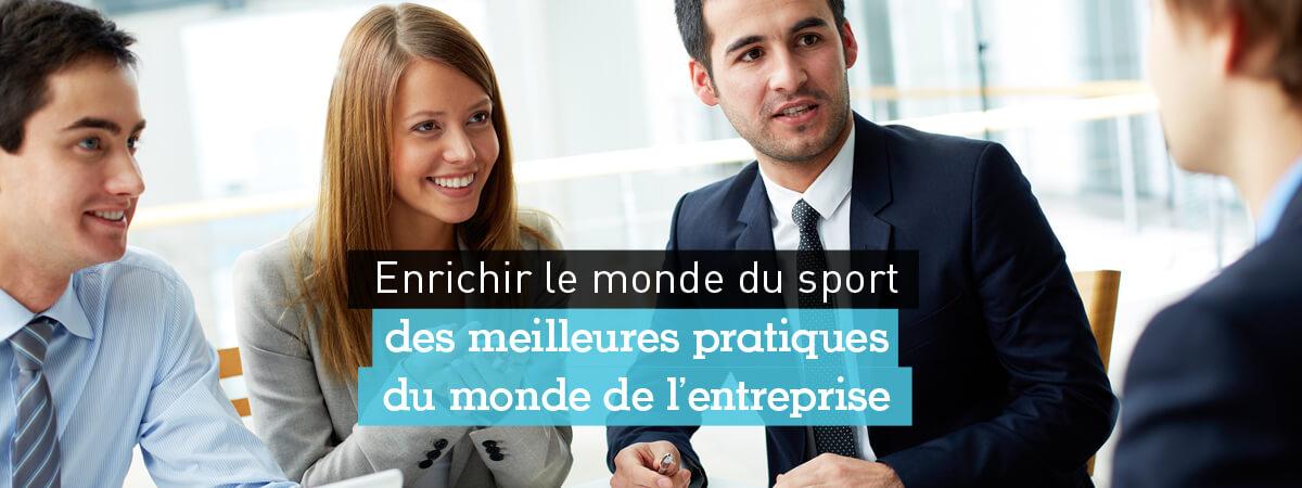 enrichir l'entreprise des pratiques du sport - Performance et Coaching